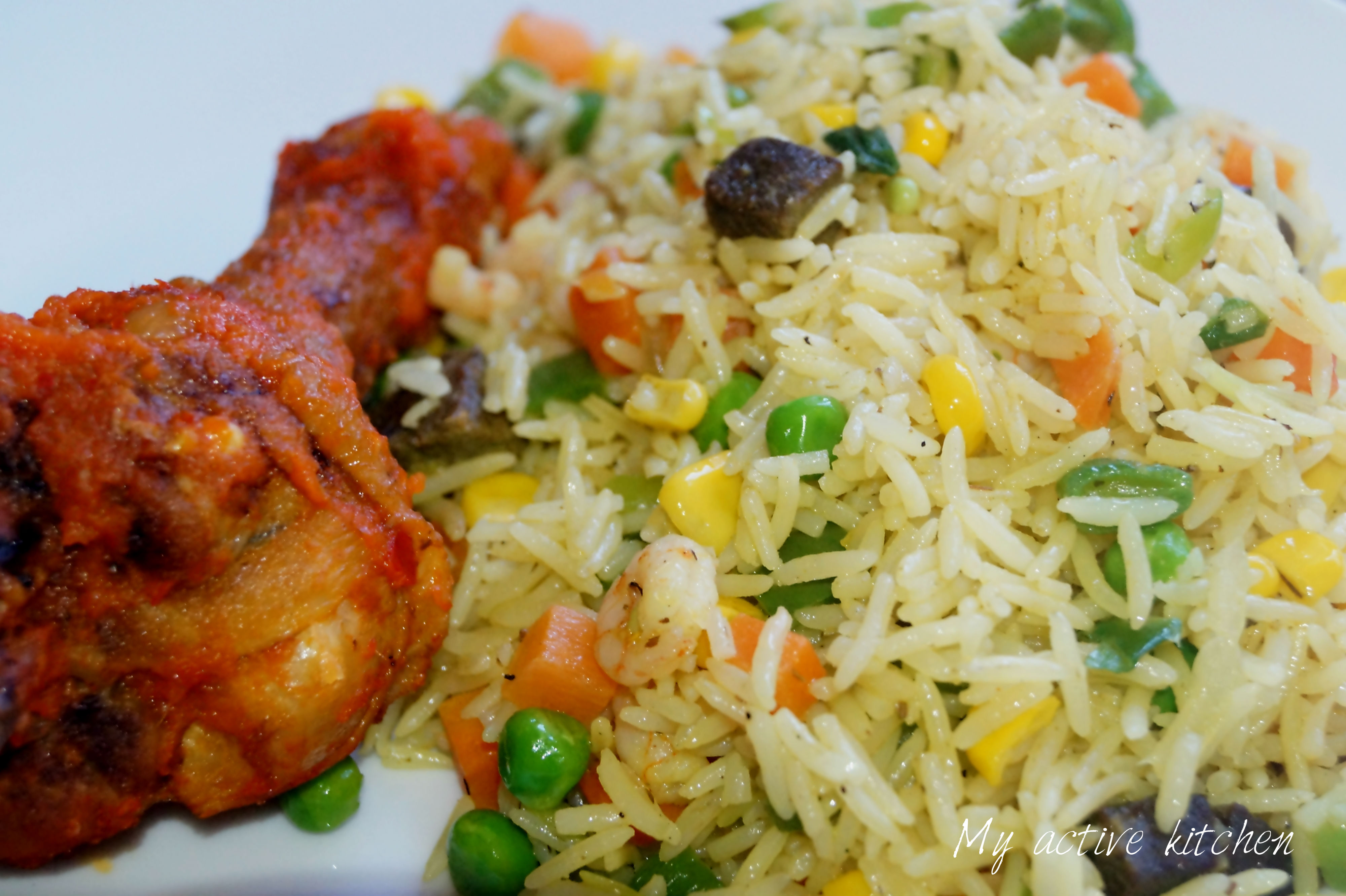 Nigerian Fried Rice - My Active Kitchen