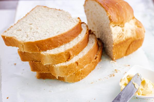 homemade bread slices