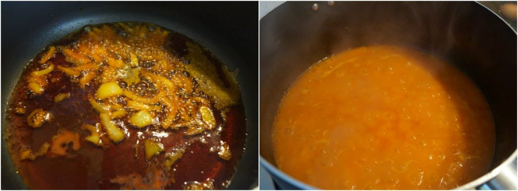 cooking stew.