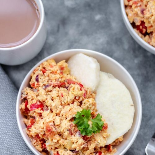 Egg sauce and Yam - My Active Kitchen