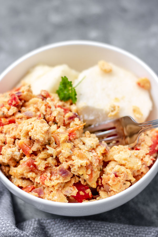 image of nigerian yam and egg sauce (ramadan menu)