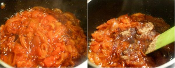 how to fry tomato sauce.