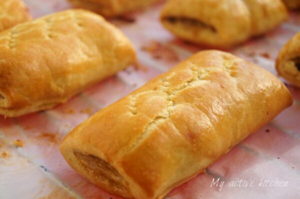 freshly baked nigerian sausage roll