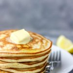 a close shot of cropped stack of nigerian pancakes