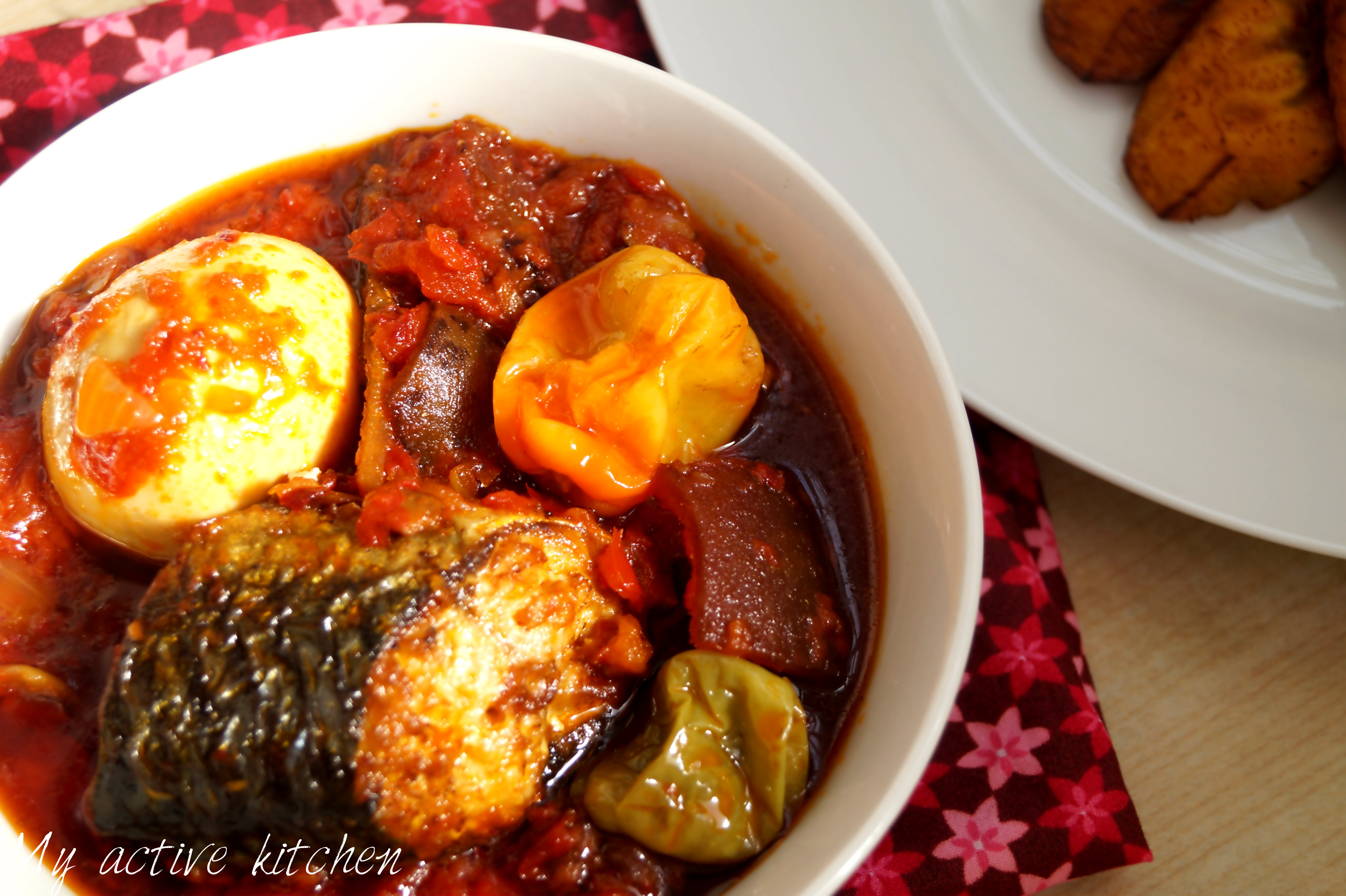 fried fish and stew
