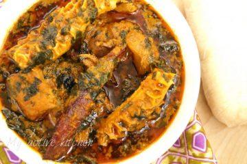 image of ofe akwu with pounded yam