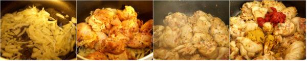 searing chicken.