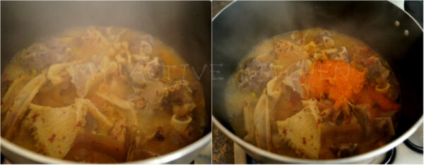 image process of how to cook edikaikong