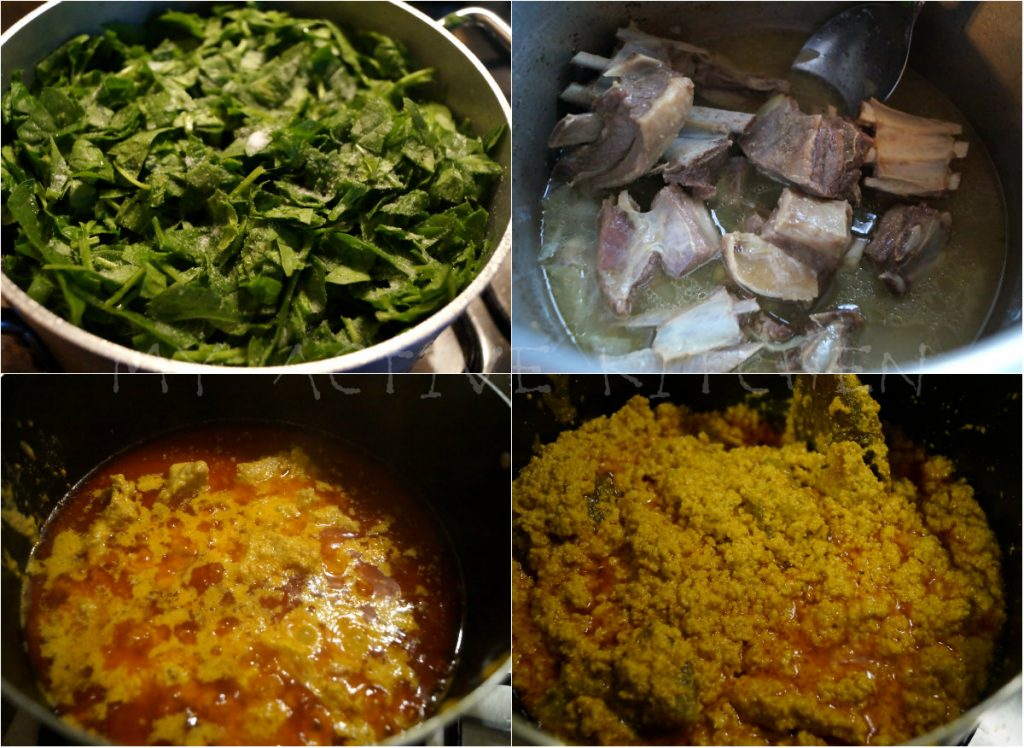 water leaf and goat meat
