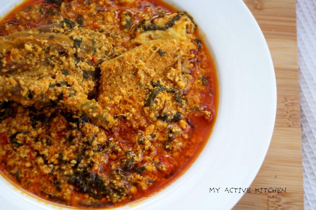 gbure elegusi soup