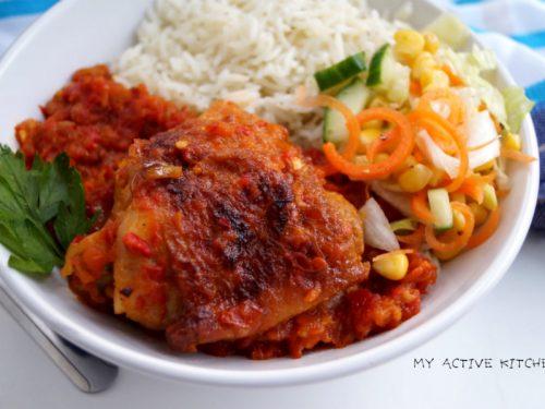 roasted garlic chicken stew