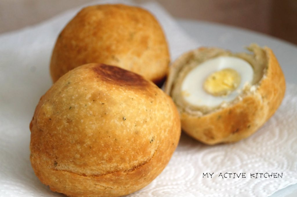 image of 2 and half Nigerian egg roll
