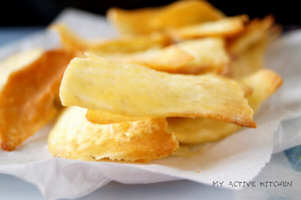 oven baked yam chips