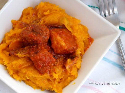 coconut yam porridge