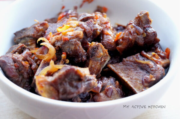 Asun Spicy Smoked Goat Meat Recipe My Active Kitchen