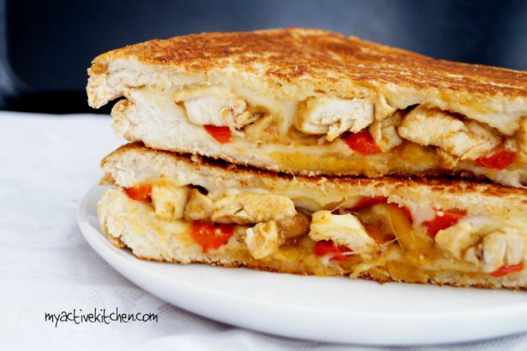 chicken suya sandwich