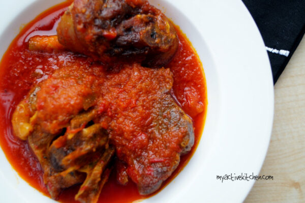 plate of nigerian soup