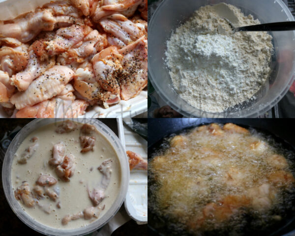 how to make salt and pepper chicken wing.