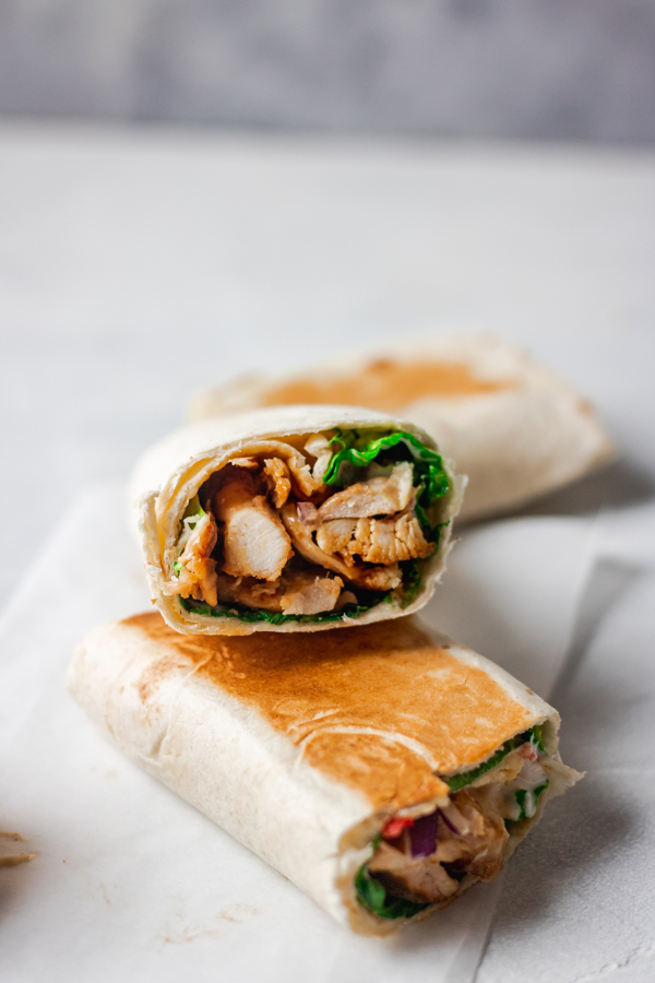 easy spicy chicken wrap