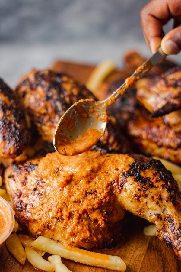 piri piri chicken.