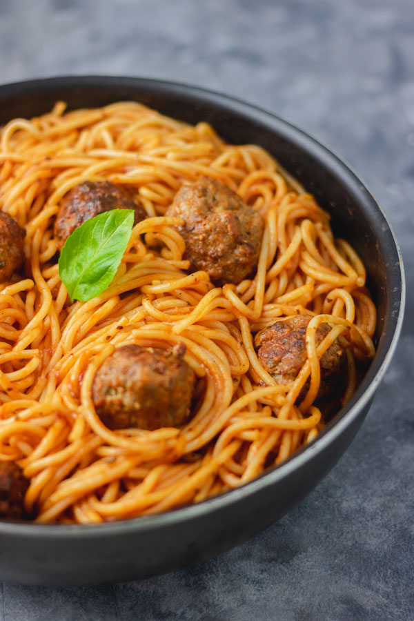 meatballs and spaghetti.