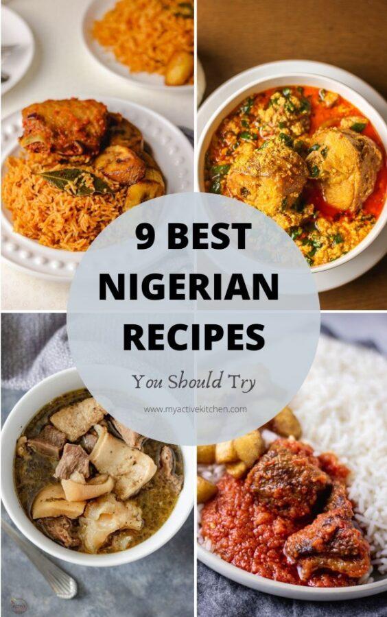 collage nigerian food round up.